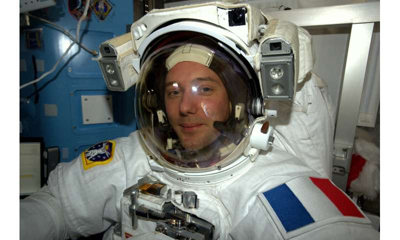 Luca powers up for a spacewalk