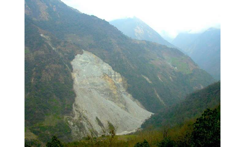 Minerals in mountain rivers tell the story of landslide activity upstream