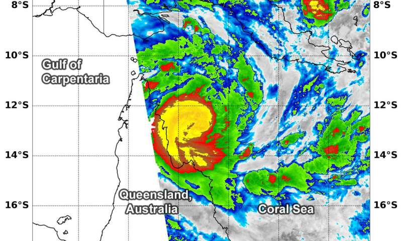 NASA finds heavy rainfall potential in new Tropical Cyclone Trevor