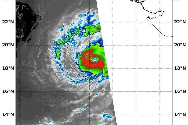 NASA provides an infrared analysis of Tropical Cyclone Maha