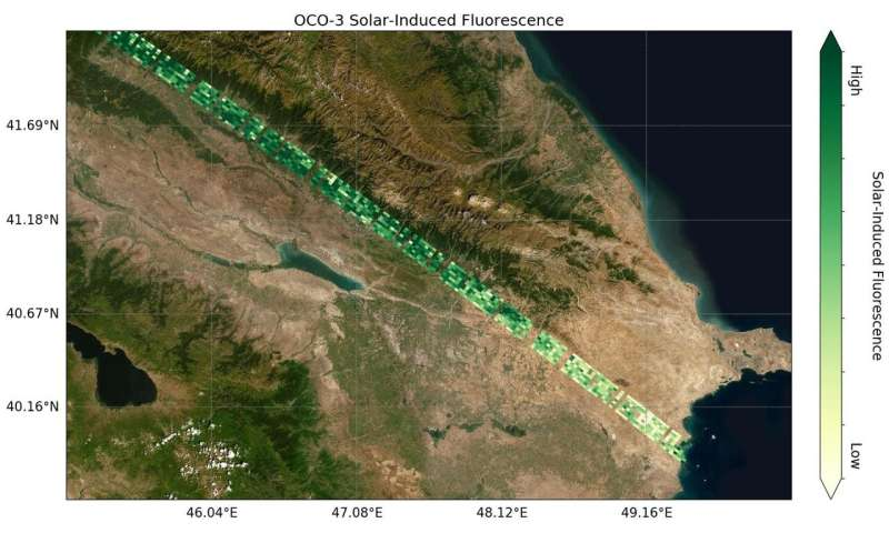 NASA's orbiting Carbon Observatory-3 gets first data