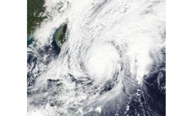 NASA tracks a weaker tropical storm Fung-Wong