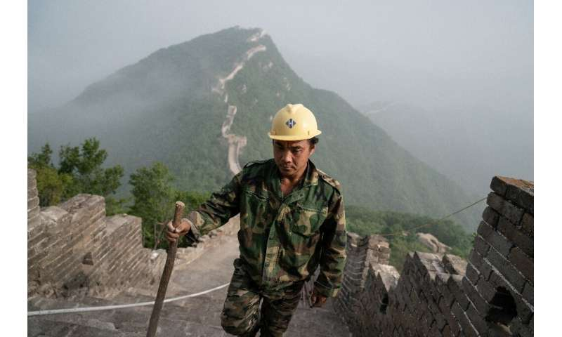 Nature, time, neglect and millions of footsteps have taken their toll on the Great Wall of China leaving much of it crumbling, b