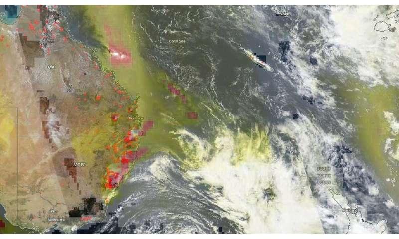 NOAA-NASA's Suomi NPP satellite views New South Wales fires raging on