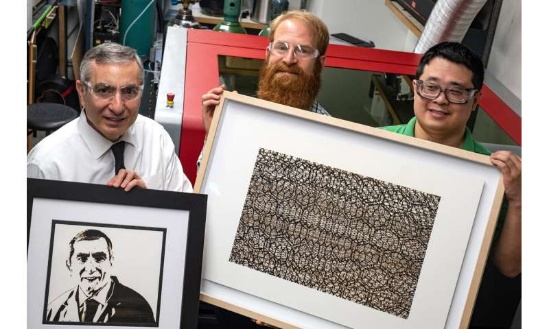 No ink needed for these graphene artworks