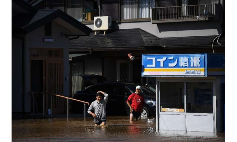 Powerful Typhoon Hagibis hit Tokyo and the surrounding region just weeks after another strong storm churned through the area