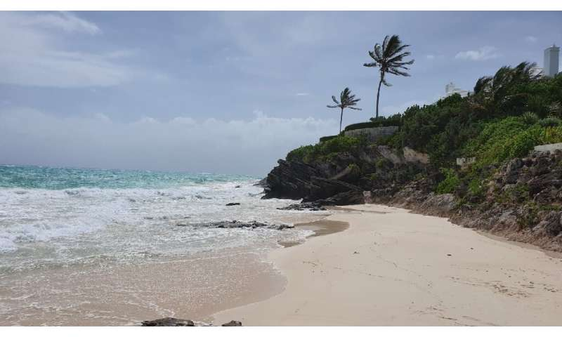 Residents of Bermuda prepared for the arrival of Hurricane Humberto—seen here is Grape Bay Beach in Paget, not far from the capi