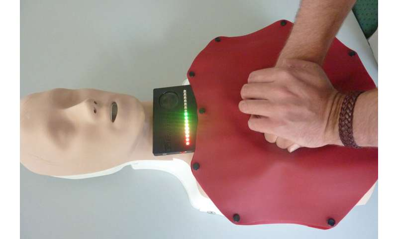 Resuscitation mat simplifies cardiac massage