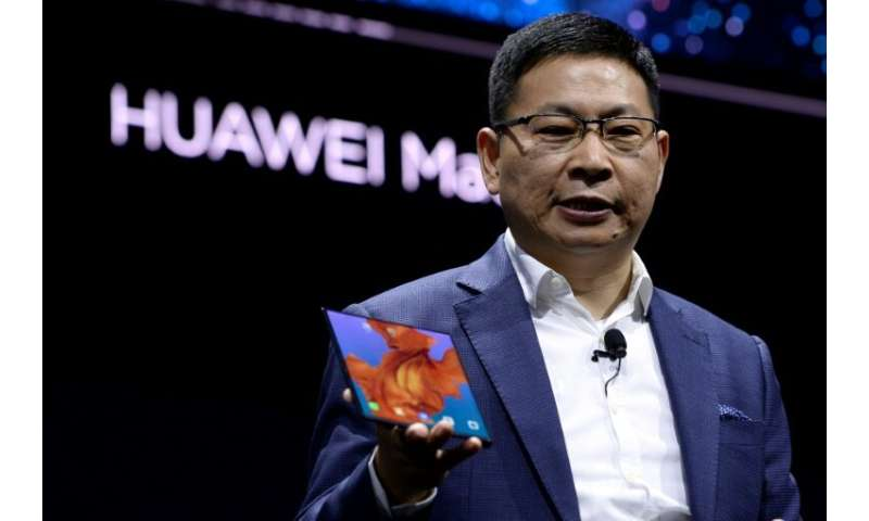 """Richard Yu, head of Huawei's consumer business group, unveiled the Mate X phone with a folding screen. """"Our engineers worke"""