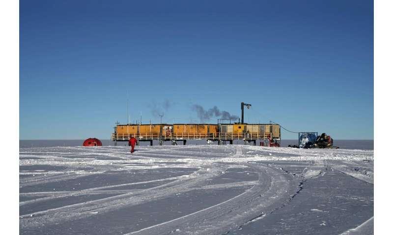 Stardust in the Antarctic snow