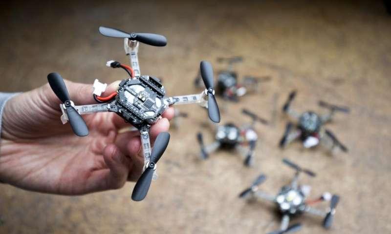 Swarm of tiny drones explores unknown environments