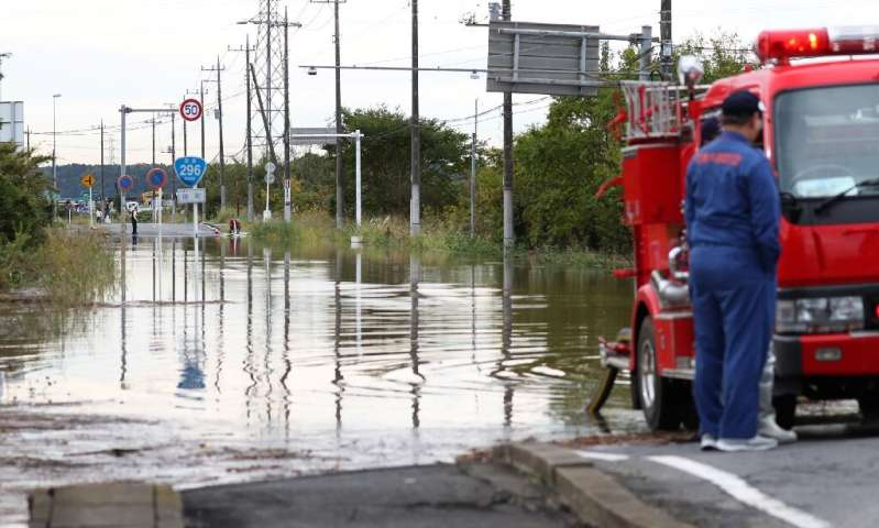 The heavy rain comes just two weeks after a major typhoon hit the region