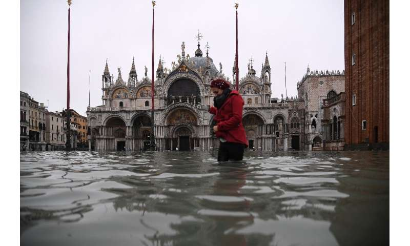The high waters peaked at 1.87 metres (six feet) on Tuesday