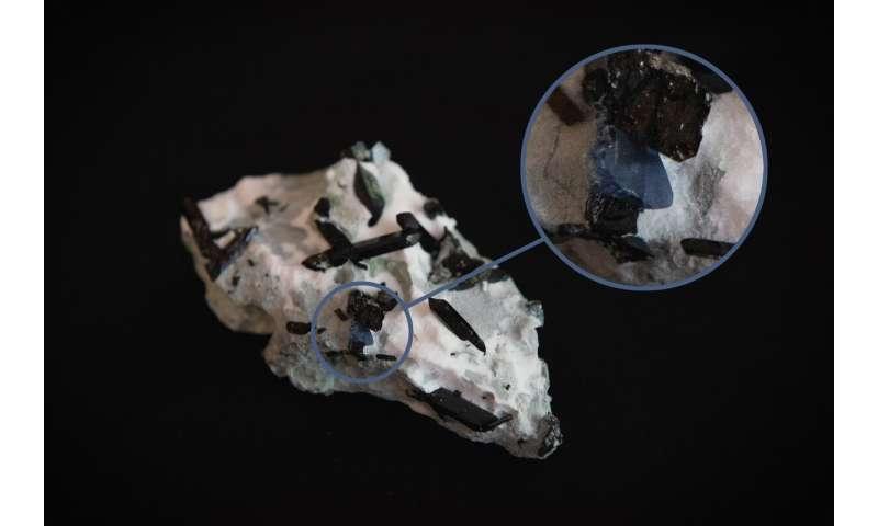 The very rare mineral benitoite is in a TSU museum