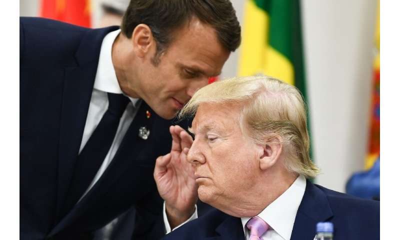 Trump and Macron have clashed over Paris's taxation plan for  digital giants with the US president denouncing his French counter