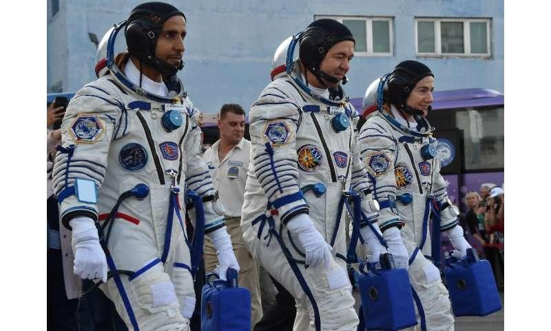 UAE astronaut Hazzaa al-Mansoori, Russian cosmonaut Oleg Skripochka and US astronaut Jessica Meir headed to the ISS in September