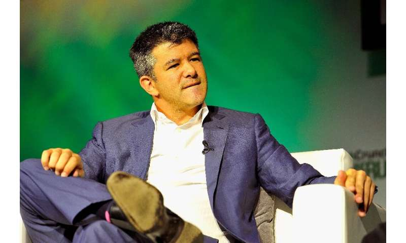 Uber co-founder Travis Kalanick, shown here in 2014, will sever his ties from the company at the end of the month when he steps