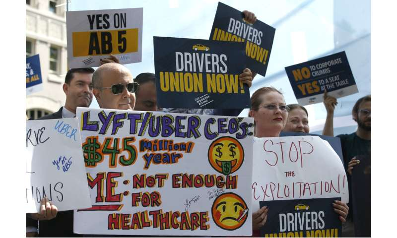 Uber, Postmates sue to challenge California's new labor law
