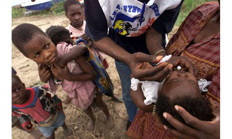 UN says 1st local polio case found in Zambia since 1995