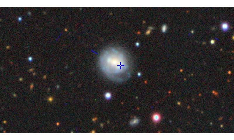 Unusual supernova opens a rare window on the collapse of a star