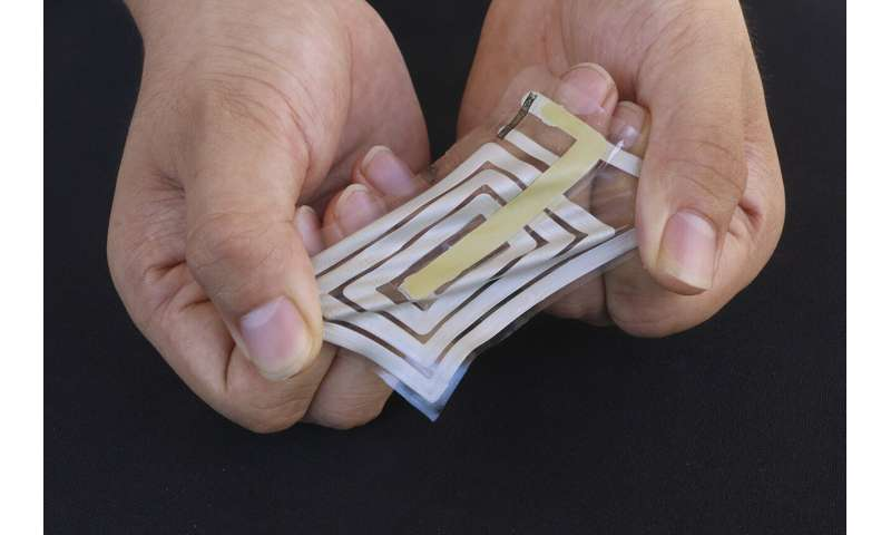Wireless sensors stick to skin and track health