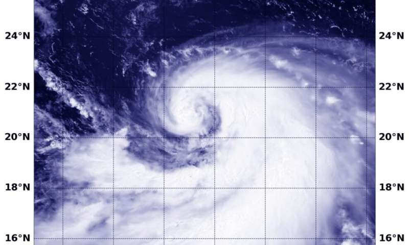 Tropical Storm Krosa gets a comma shape