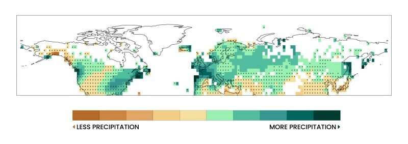 Climate change is altering winter precipitation across the Northern Hemisphere