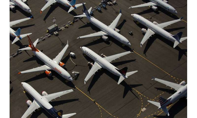 Boeing 737 MAX airplanes remain grounded pending a flight authorisation by US regulators