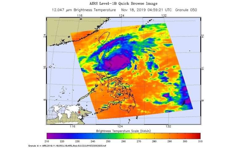 NASA finds heavy rain potential in typhoon Kalmaegi