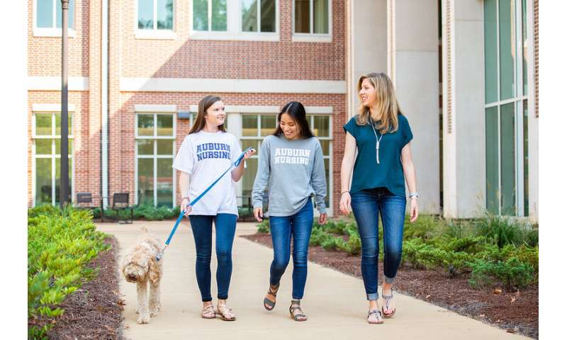 Researchers find walking a dog to be especially good behavior for nursing students