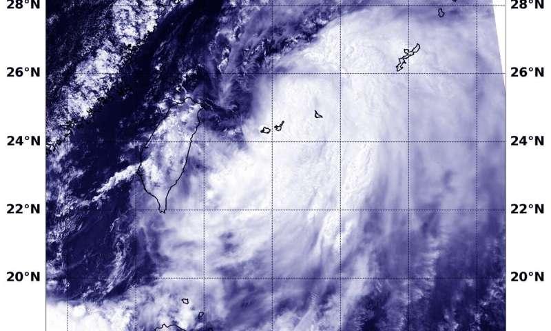 NASA's Aqua satellite finds Tropical Storm Danas over Ryuku Islands