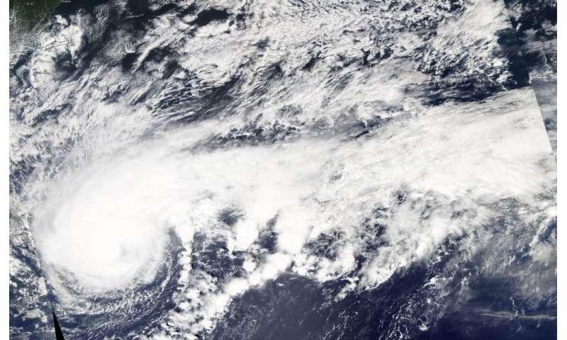 NASA satellite data shows Humberto's structure change