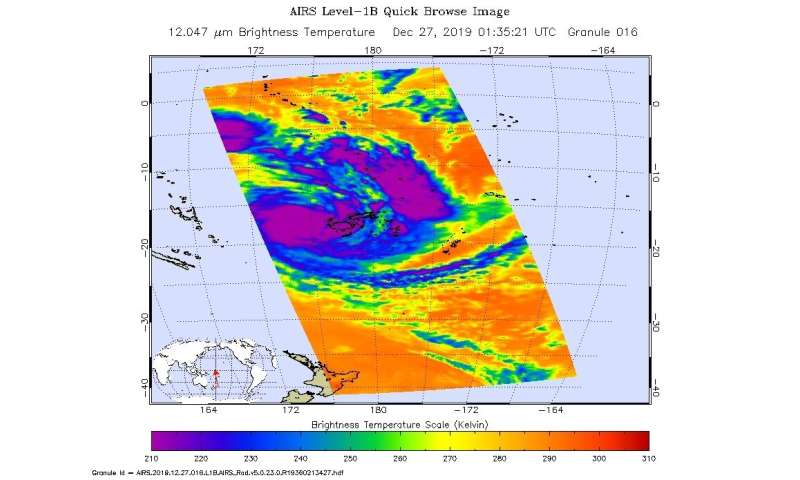 NASA finds heavy rain potential in tropical storm Sarai