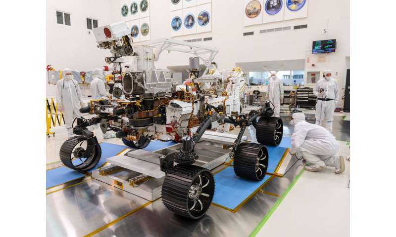 NASA's Mars 2020 rover completes its first drive