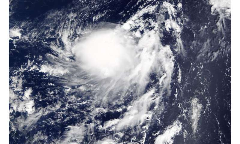 NASA finds Tropical Storm Karen's strength on western side