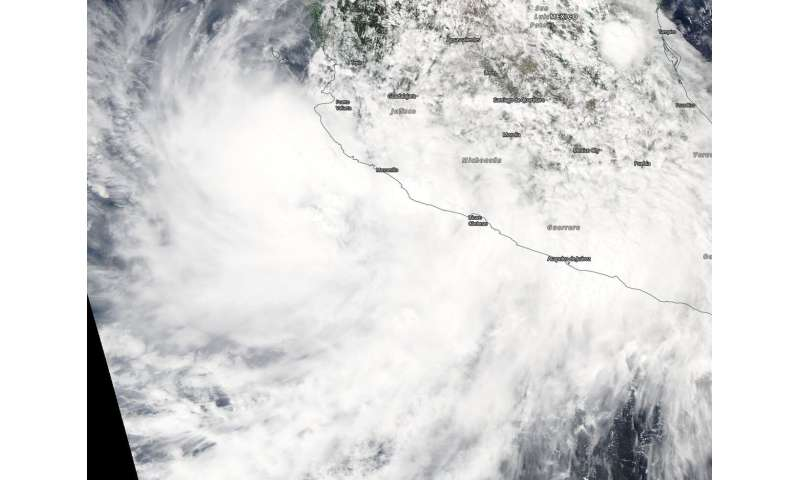 NASA finds tropical storm Narda bringing heavy rainfall to western Mexico