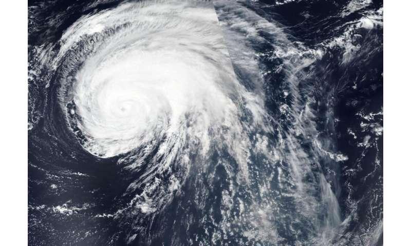 NASA satellite sees a large Hurricane Lorenzo headed toward Azores