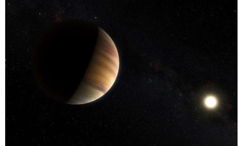 51 Pegasi b, seen here in an artist's impression, was the first exoplanet discovered 24 years ago