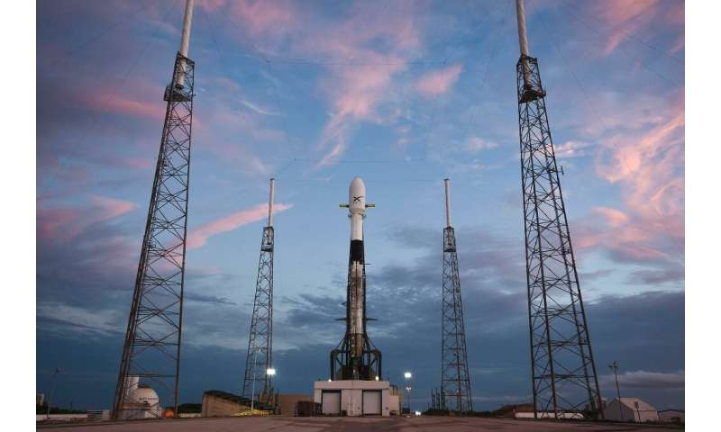 A SpaceX Falcon 9 rocket is set to take off from Cape Canaveral in Florida at 10:30 pm (0230 GMT Friday)