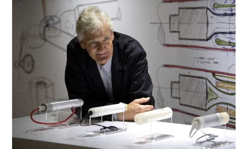 British industrial design engineer James Dyson said his company's electric car project was not commercially viable