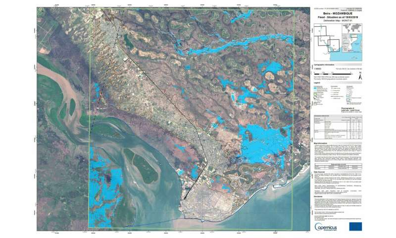 Copernicus Sentinel-1 maps floods in wake of Idai
