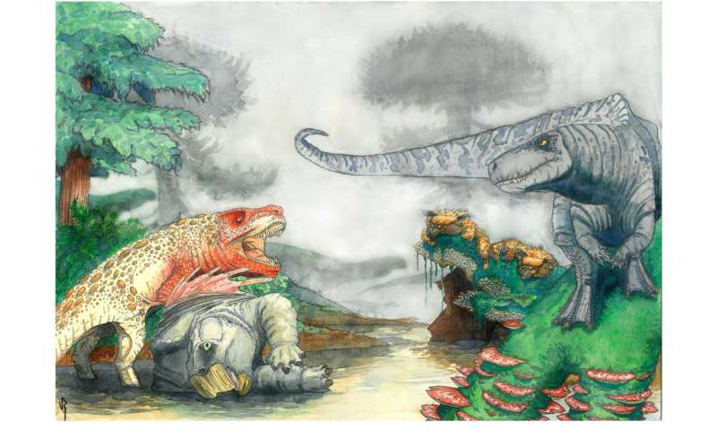 Croc-like carnivores terrorised Triassic dinosaurs in southern Africa 210 million years ago