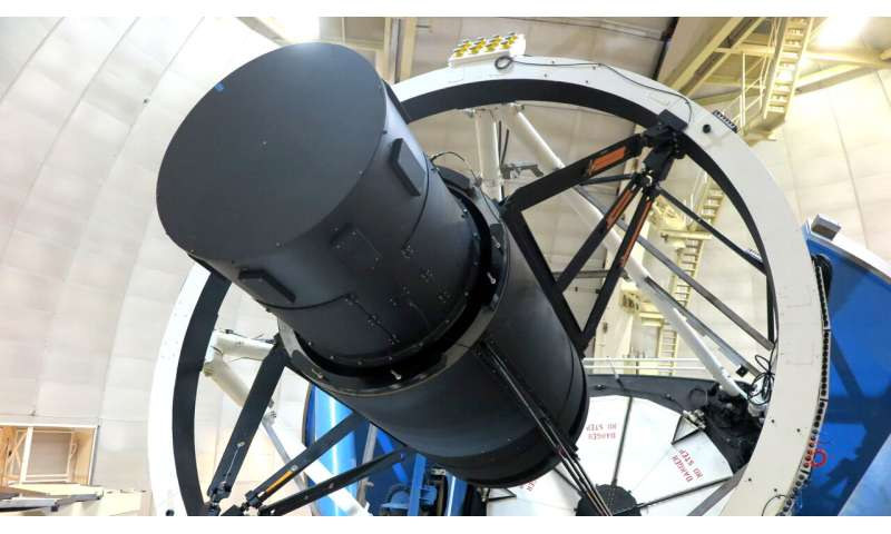 Dark Energy Instrument's lenses see the night sky for the first time