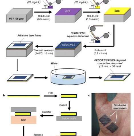 Elastic kirigami patch for electromyographic analysis of the palm muscle during baseball pitching