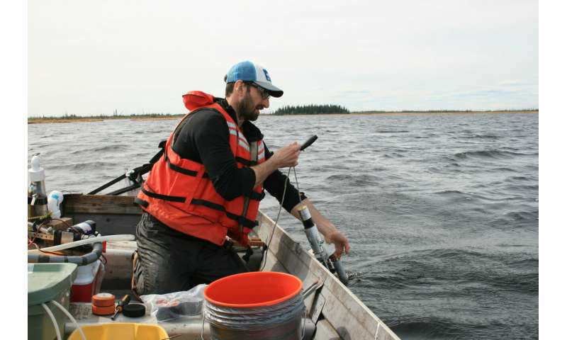 Many Arctic lakes give off less carbon than expected