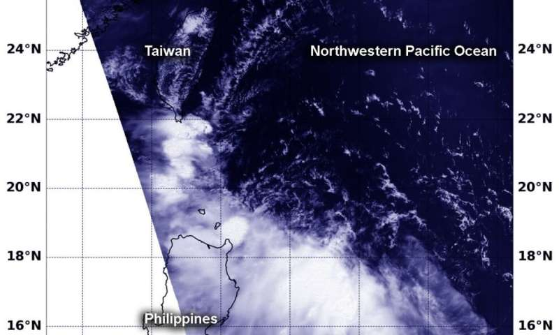 NASA finds winds tore Tropical Storm 04W apart