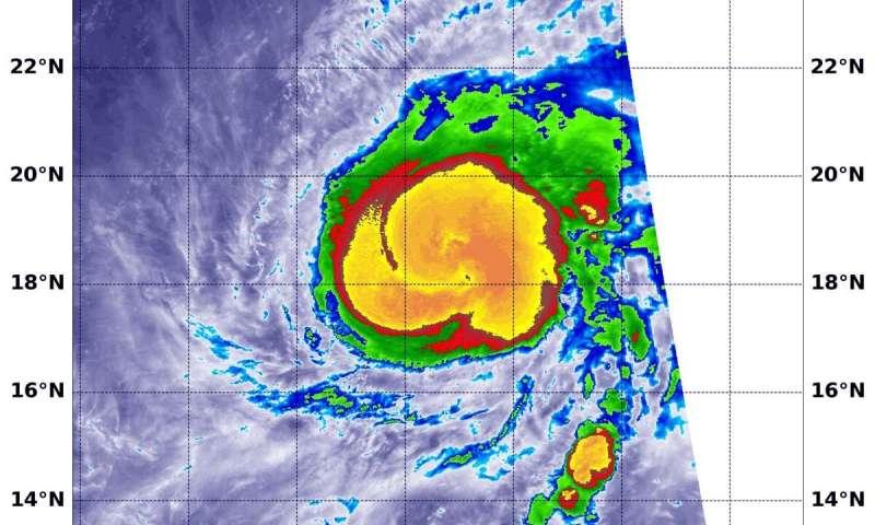 NASA provides an infrared analysis of typhoon Halong