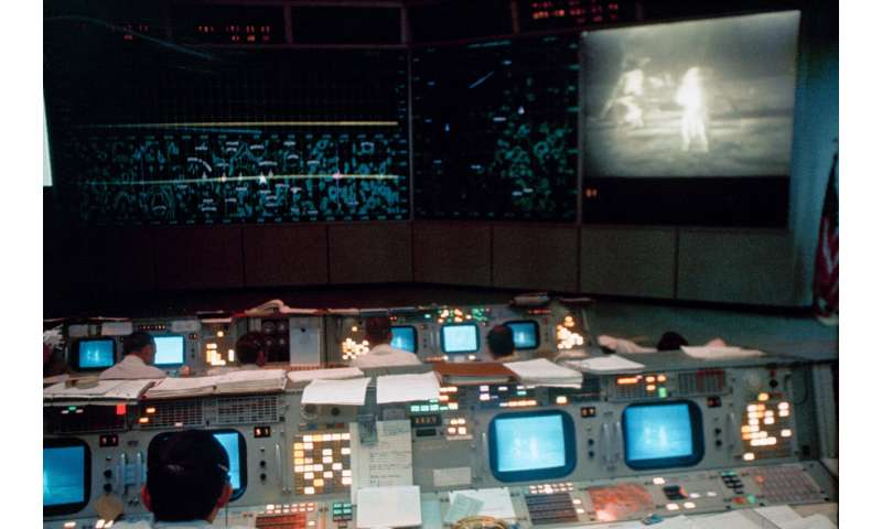 Restored Mission Control comes alive 50 years after Apollo