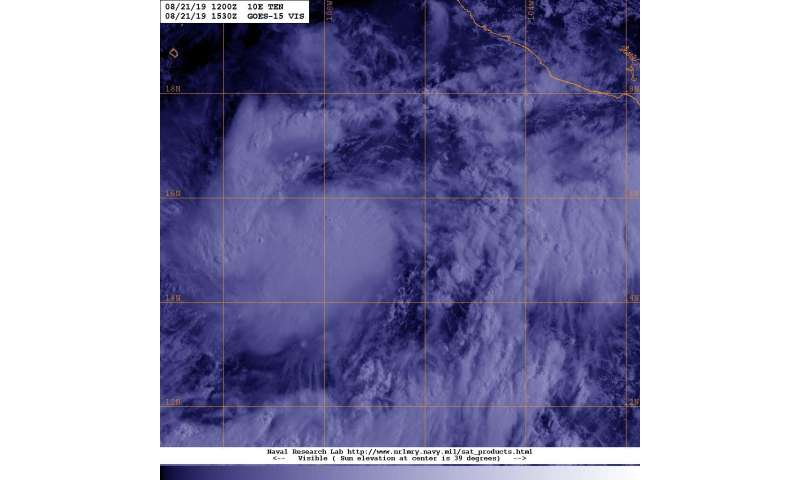 Satellite sees Eastern Pacific Depression 10E form