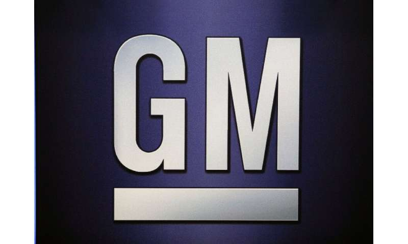 Shares of General Motors fell after it reported lower first-quarter sales in North America and China